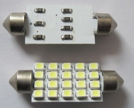 Auto LED SMD Lamp Festoon 20SMD 3528