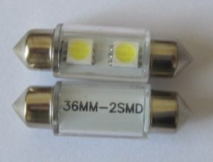 Auto LED Lighting Festoon 2SMD 5050