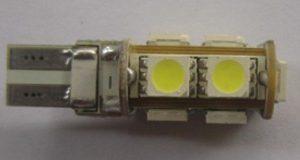 Auto Bulb W5W T10 WG 9SMD Error Free