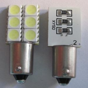 Automotive LED Light BA9S 6SMD Error Free