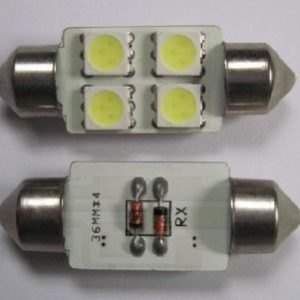 Auto LED Lighting 4 SMD 5050 36MM Festoon C5W