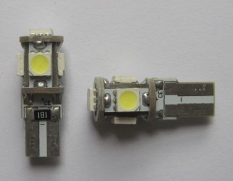 Best Selling Car LED Light T10 Wedge 5SMD 5050