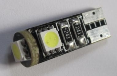 W5W T10 Wedge 3 SMD 5050 Auto LED Lamp Light