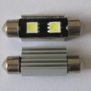 Auto LED Bulb Lighting Festoon C5W 2 SMD Canbus