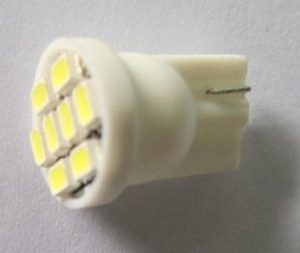 W5W Auto LED Bulb T10 WG Wedge 194 Light 8 SMD