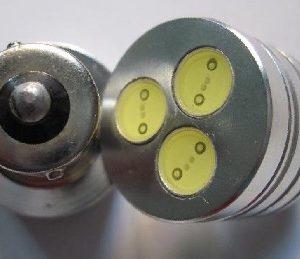 12V 24V 3Watt High Power Car LED Lamp Light BA15S