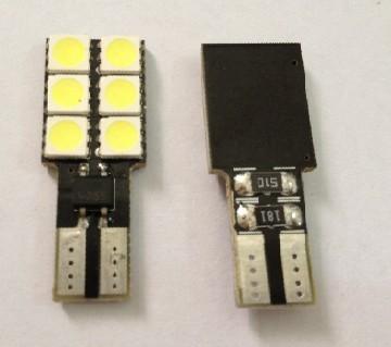 Car LED Bulb T10 Wedge 6SMD 5050 W5W 194