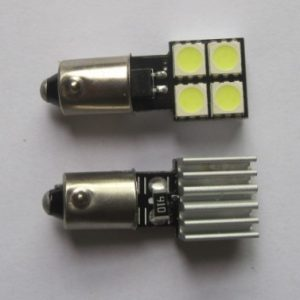 BA9S BAX9S W6W 4SMD 5050 Canbus Car LED Light