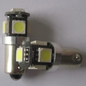 Cabus 5 SMD 5050 BA9S W6W car LED bulb