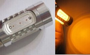 cree car led light in yellow amber colors
