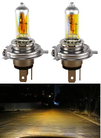 Automotive halogen bulb Golden yellow H4