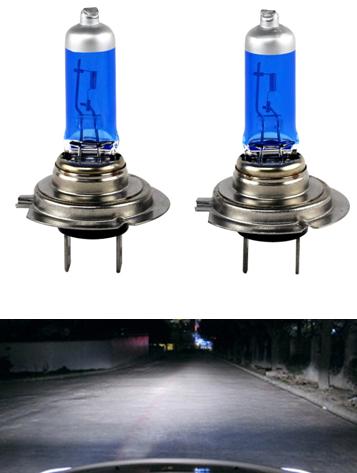 Automotive halogen bulb blue glass H7